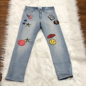 Cute Patched Jeans